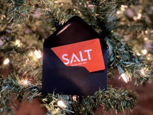 Salt salon and spa logo in a card