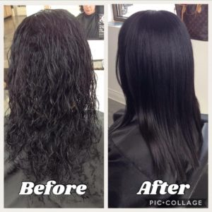hair treatments before and after